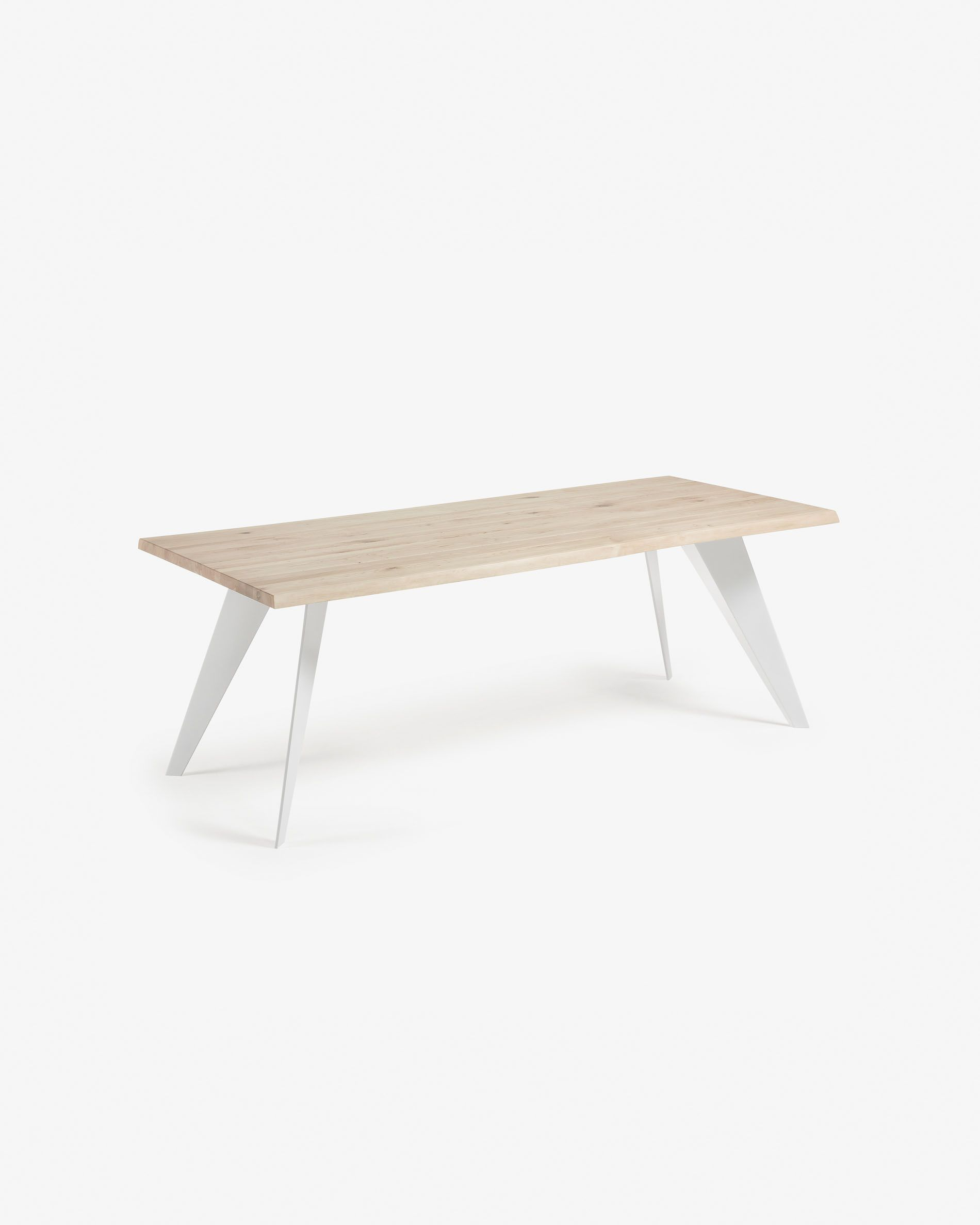 Koda Table 220x100 Cm Epoxy White And Bleached Oak Kave Home