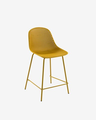 Yellow Quinby stool height 65 cm