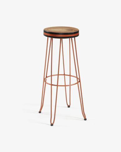 Copper Faye barstool height 74 cm
