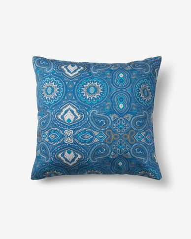 Blu mosaic cushion cover