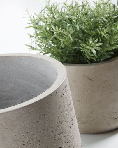 Low set of 2 planters grey