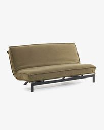Eveline sofa bed brown metal structure 195 cm