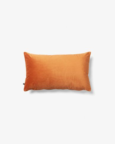 Lita cushion cover 30 x 50 cm orange velvet