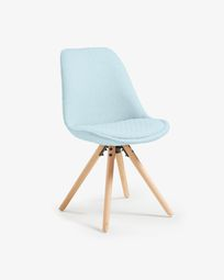 Light blue and natural Ralf chair