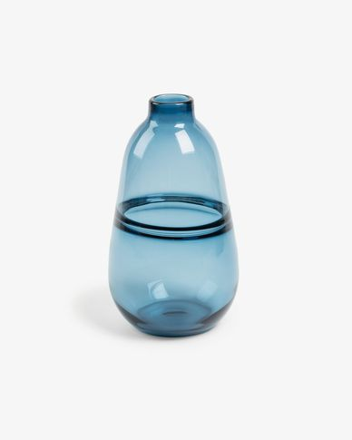Jordan vase blue glass 28,5 cm