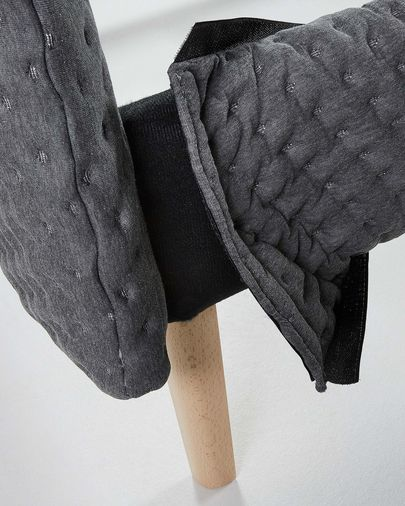 Dyla bed quilted 150 x 190 cm grey
