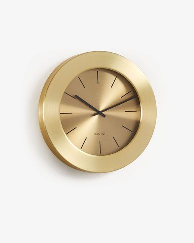 Wall clock Alessia gold