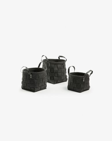 Know set of 3 baskets square