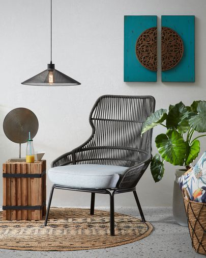 Grey Rozy armchair