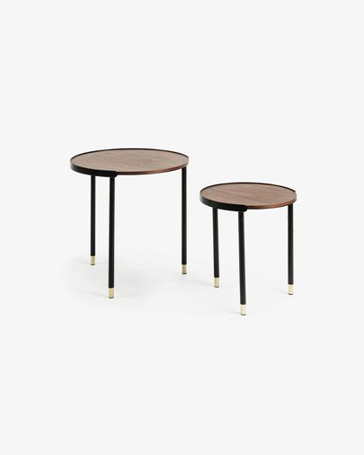 Set Anabel de 2 tables d'appoint Ø 50 / Ø 38 cm