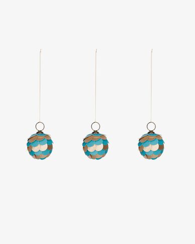 Felicita blue bauble set