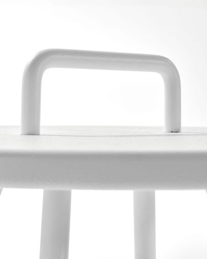 White Accost side table