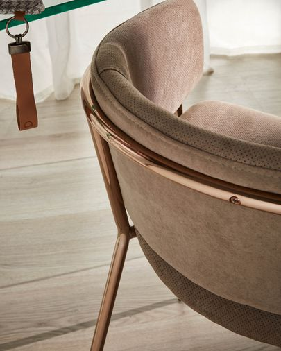 Taupe Runnie armchair