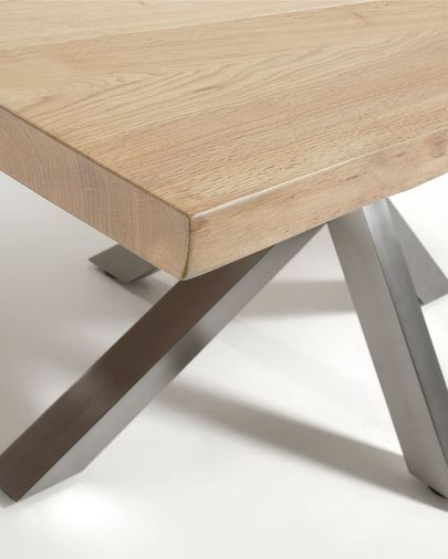 Argo table 180 cm bleached oak matt stainless steel legs