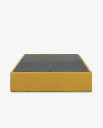 Storage bed base Matter 90 x 190 cm mustard