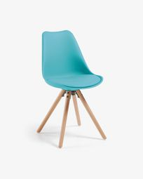 Blue and natural Ralf chair