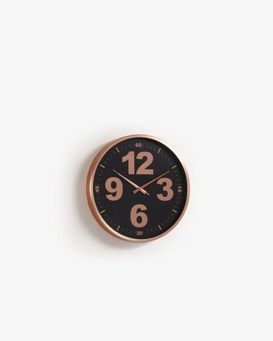 Wall clock Mentha rose gold
