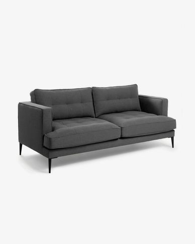 Dark grey 3-seater Tanya sofa 183 cm