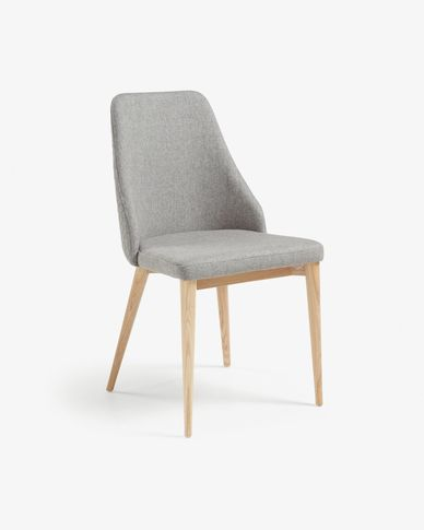 Rosie chair light grey natural finish