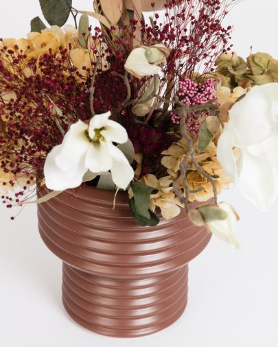 Aleray vase in brown