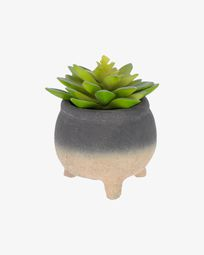Sedum lucidum artificial plant in cement pot