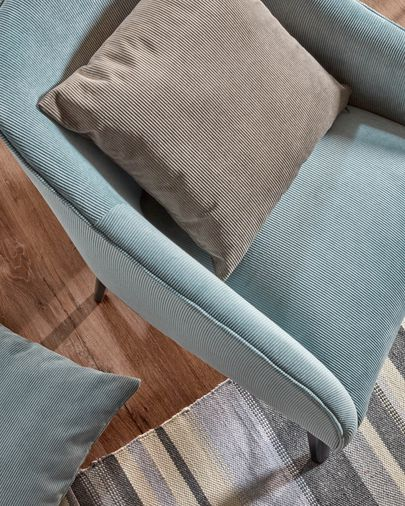 Bobly corduroy armchair in turquoise