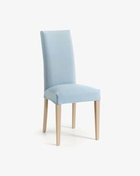 Freda chair light blue and natural
