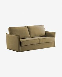Samsa Bettsofa 140 cm visco braun