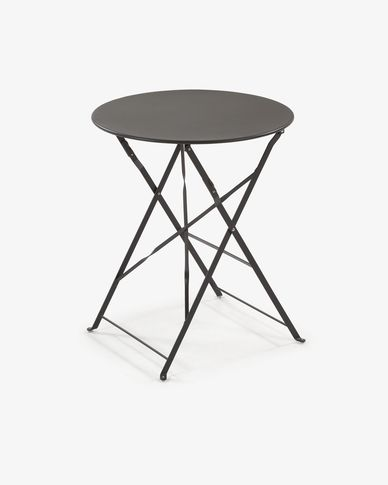 Round graphite Alrick table Ø 60 cm