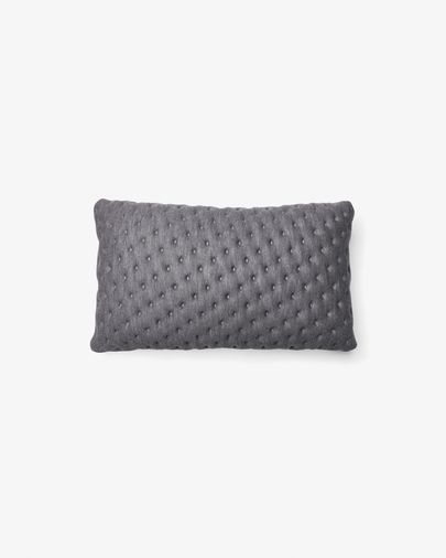 Kam cushion quilted 30 x 50 cm grey