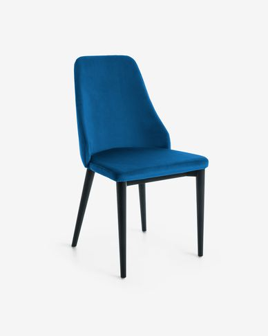 Rosie blue velvet chair