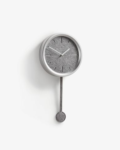 Nexus wall clock silver