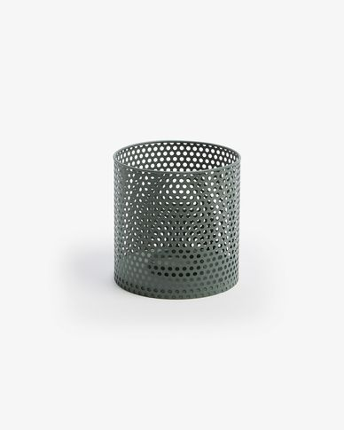 Metal candle holder Erran Ø 15 cm green