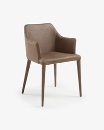Croft armchair brown in eco-nobuck