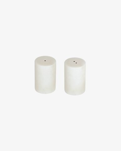 Claria marble salt and pepper shakers