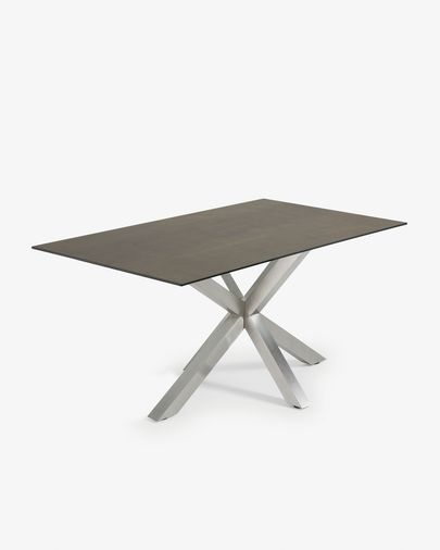 Argo table 160 cm porcelain matt stainless steel legs