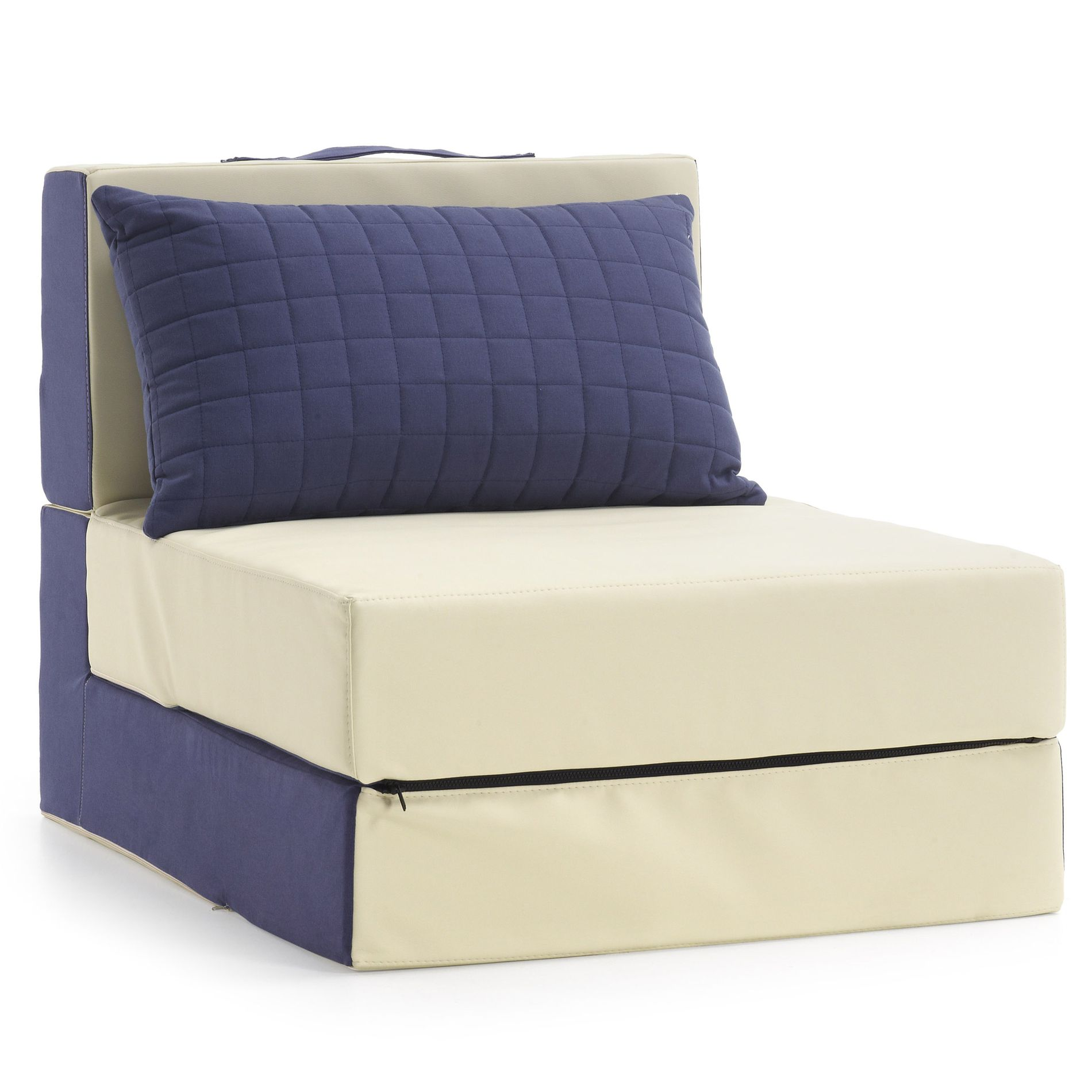 Arti Armchair Bed Blue And Beige Kave Home