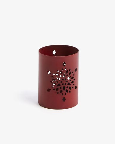 Candleholder Caylee red