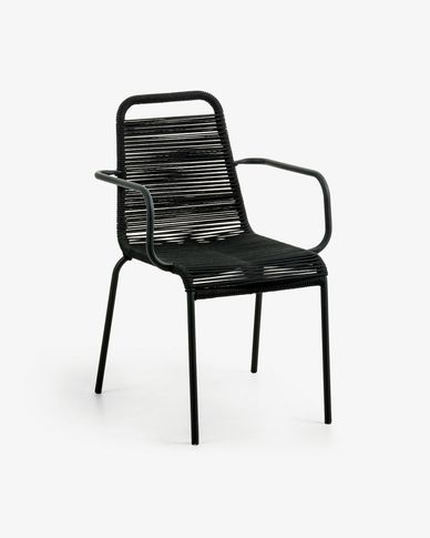 Black Lambton armchair