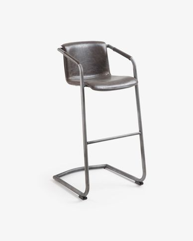 Dark brown Tribe barstool height 79 cm