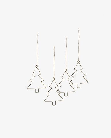 Set of 4 hanging ornaments Eira