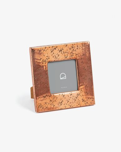 Photo frame Clary 18 x 18 cm copper metal