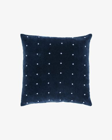 Aines blue corduroy cushion cover 45 x 45 cm