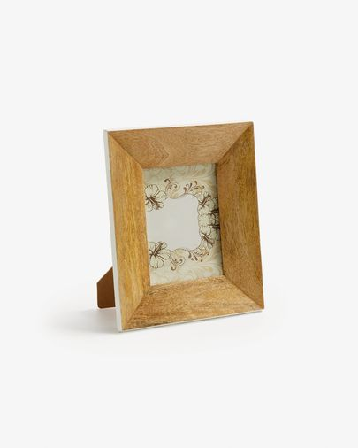 Farbe photo frame natural and white