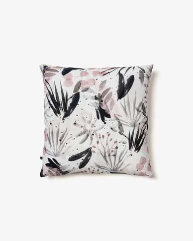 Cushion cover Kourtney 45 x 45 cm white, black and pink
