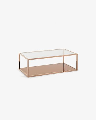 Greenhill rectangular cooper coffee table 110 x 60 cm