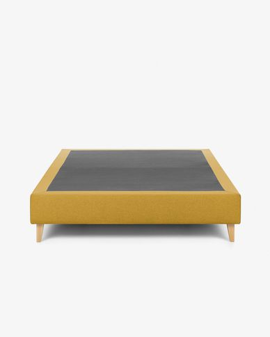 Bed base high Nikos 150 x 190 cm mustard