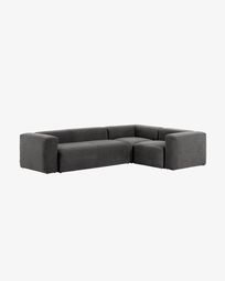 Grey Blok 4 seater corner sofa 320 x 230 cm