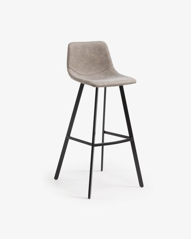 Taupe Alve barstool height 80 cm