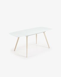Table extensible Smoth 120 (180) x 80 cm blanc